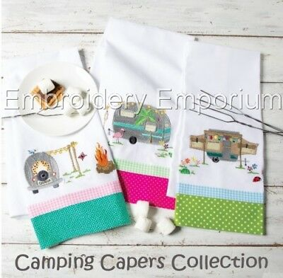 Camping Capers Collection - Machine Embroidery Designs On Cd Or Usb