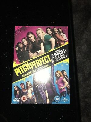 PITCH PERFECT COMPLETE PART 1 AND 2 MOVIE FILM COLLECTION Anna Kendrick DVD