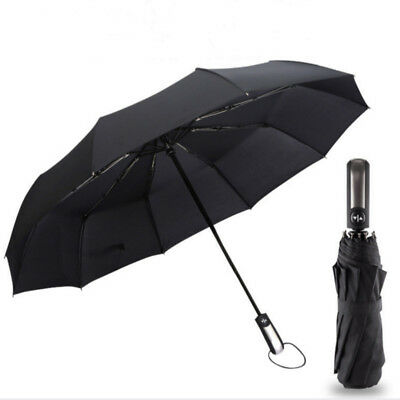 Wind Resistant Three Folding Automatic Umbrella for Women's and Men's