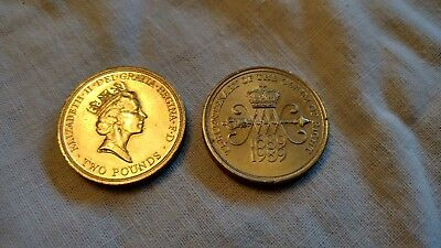 2x 1989 Tercentenary of the Claim of Rights £2 coin