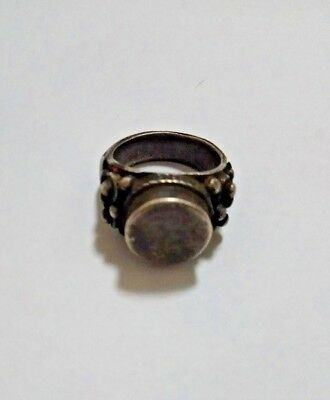 Silver White Metal 12g 5th-9th century A.D.Ring Byzantine With Chevron Designs