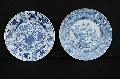 Two 18th century Chinese export plates, Kangxi / Chienlung period