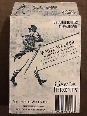 Johnnie Walker White Walker Game Of Thrones Limited Edition Empty Box Carton