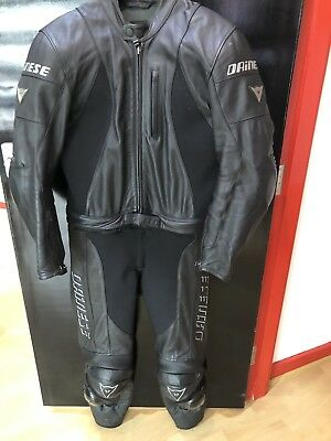 Dainrse M4 Two Piece Leather Suit Size UK 42