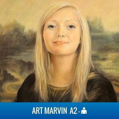 Commission A2 Pastel Portrait - Drawing from your photos - Birthday Art realism