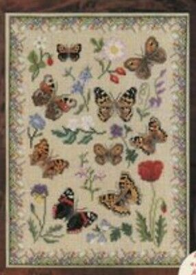Mary Hickmott's Beautiful Brown Butterflies - Materials Pack. No Chart!