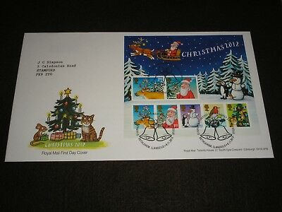 2012 GB Stamps CHRISTMAS MINI SHEET First Day Cover BETHLEHEM Cancels FDC