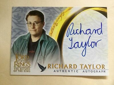 Topps Lord Of The Rings LOTR Richard Taylor ROTK Autograph Card