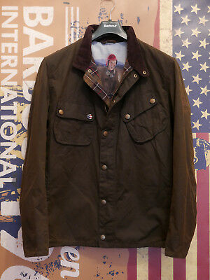 Rare £249 Mens Barbour Steve McQueen 9665 olive wax jacket size XXL XL