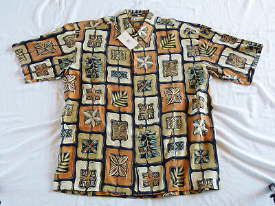 Kahala Flowers Hawaiian shirt, made in Hawaii XL, 100% Silk new w/tag