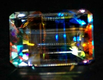 AAA++++ 30.10 Ct Natural Rainbow Color Mystic Loose AGSL Certified Gem