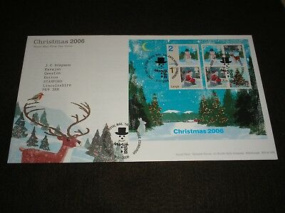 2006 GB Stamps CHRISTMAS MINI SHEET First Day Cover TALLENTS HOUSE Cancels FDC