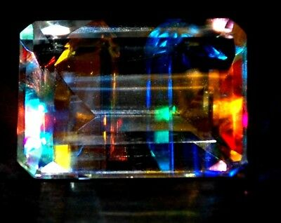 AAA++++ 24.35 Ct Natural Rainbow Color Mystic Loose AGSL Certified Gem
