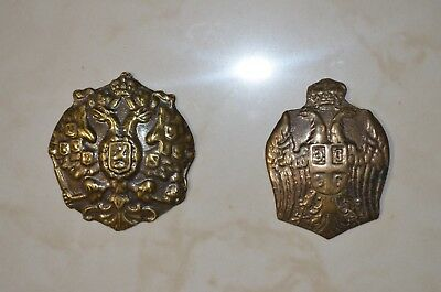 Russia Serbia military (army) badges of russian and serbian helmets Adrian WWI