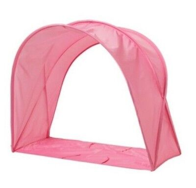 Ikea Sufflett Pink Bed Tent Canopy Girls Reading Snug Hood Hideaway Kids