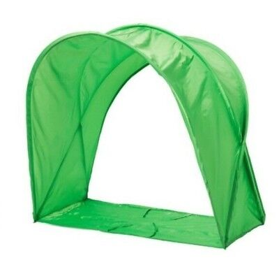 Ikea Sufflett Green Bed Tent Canopy Boys Girls Reading Snug Hood Hideaway Kids