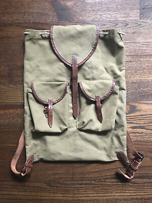 WWII German Army mountain troops canvas rucksack/backpack - Reproduction