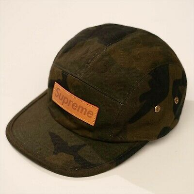 Used Louis Vuitton Supreme Collab Camping Cap Camouflage Monogram Hat JAPAN  F S a3f9ed015808