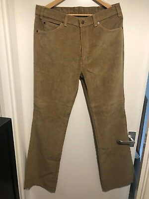 Vintage Men's Levi's Jeans, Light Brown,  W34 L33, Boot Cut
