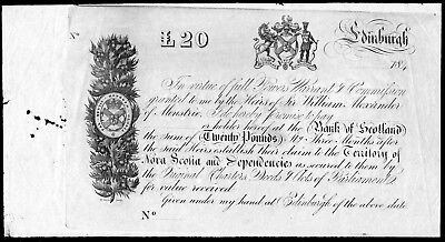 £20 to the Heirs of Sir William Alexander of Menstrie 184- Promissory Note ?