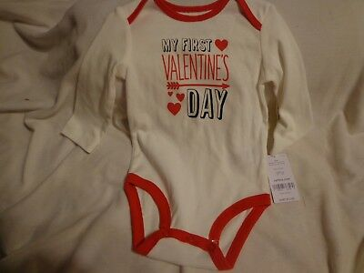 "Carter's NWT Baby Boy Girl 6 Month One Piece Bodysuit ""My First Valentine's Day"""