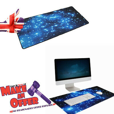 Mouse Pad Blue Stars Anti-Slip Neoprene Large Computer Office Keyboard Desk Pad