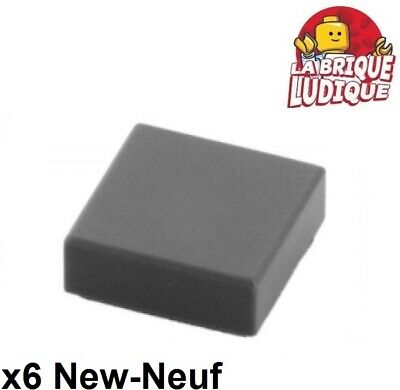 4x Tile plaque lisse 1x4 with Groove gris/light bluish gray 2431 NEUF Lego Building Toys
