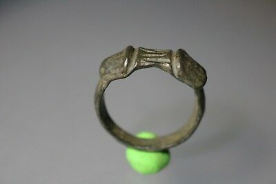 Ancient Interesting Roman Bronze Phallus Ring 1st - 4th century AD