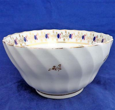 New Hall Porcelain Bowl Waisted Spiral Shanked Pattern 202 ca 1795 Antique 18thC