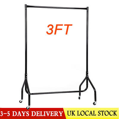 Portable Heavy Duty Rail 3FT Clothes Garment Dress Hanging Display Stand Rack