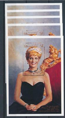 [17875] Dominica 1998 : Lady Diana - 5x Good Very Fine MNH Sheet