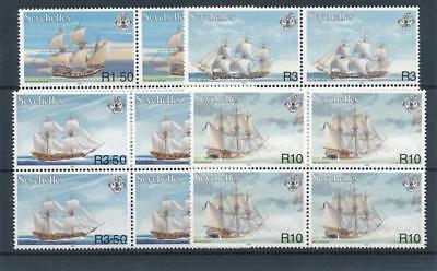 [17943] Seychelles 1999 : Boats - 4x Good Set of Very Fine MNH Stamps