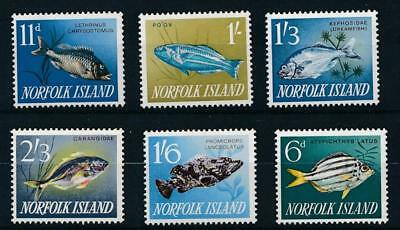 [58472] Norfolk Island 1960-63 Fishes good lot MNH Very Fine stamps