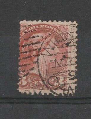 Canada 1870 QV 3c Indian Red SG 79