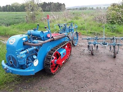 Ransome Mg5 Crawler with plough and cultivator.