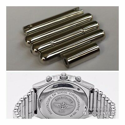 New 20mm Breitling Rouleaux Bullet Watch End Links As Shown - J Class Etc