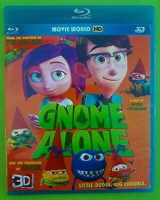 Gnome Alone  (Blu-ray 3D & 2D ) *Region Free* SHIPPING FREE !!