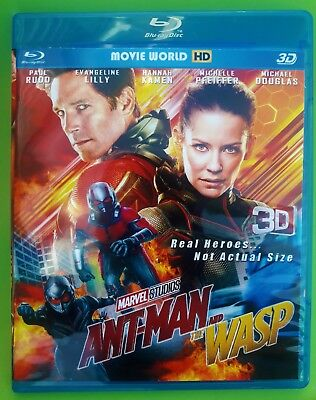 Ant-Man and the Wasp (Blu-ray 3D & 2D, 2018) Region Free *SHIPPING NOW !!!