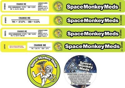 10x Space Monkey Meds Cali Tin, PRESSITIN (3.5G)(PLEASE LEAVE STRAIN IN NOTES)