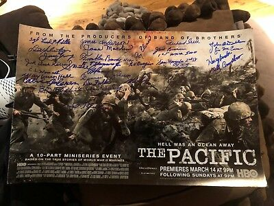 HBO The Pacific WWII signed autographed photo movie poster USMC