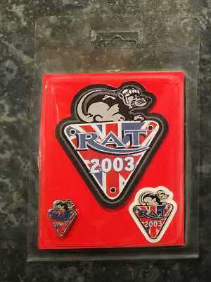 Riders Association of Triumph Motorcycles RAT Patch and Badge Set 2003
