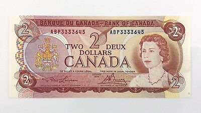 1974 Canada 2 Two Dollar ABP Prefix Canadian Circulated Currency Banknote I431