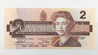 1986 Canada 2 Two Dollar BUZ Prefix Canadian Uncirculated Currency Banknote I434