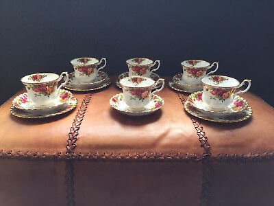Vintage Royal Albert English China Tea Cups Saucers Plates Old Country Roses