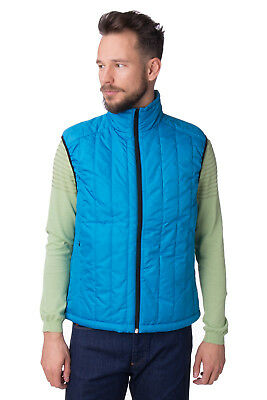 (+) PEOPLE Quilted Gilet Size L Full Zip Funnel Neck Made in Italy RRP €160