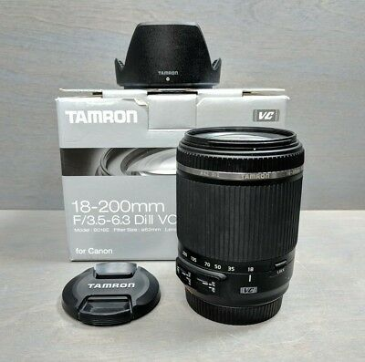 TAMRON 18-200MM F/3 5-6 3 DI-II VC AF Zoom Lens f/Canon EOS