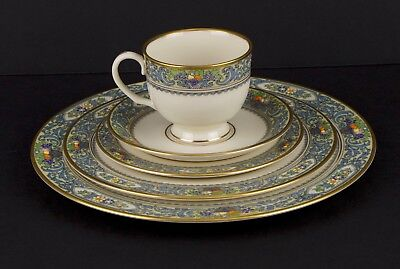LENOX Autumn Fine China 5 Piece Place Setting Gold Back Stamp