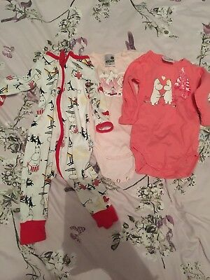 Martinex Moomin Baby Boy Clothes 3-6 Months 68 Baby Grow Bundle