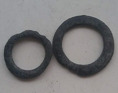 Lot of 2 Rare Original ancient proto money curency pre coin age ring forms 500BC