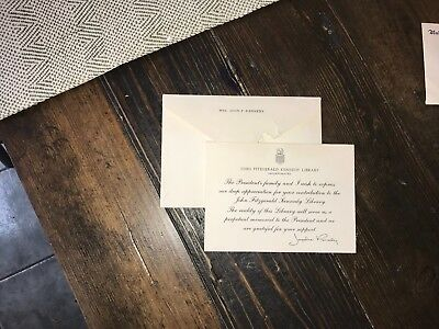 Jacqueline Kennedy Thank You card.